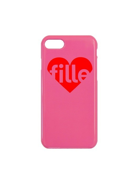 Heart 유광 iPhone Case - Pink
